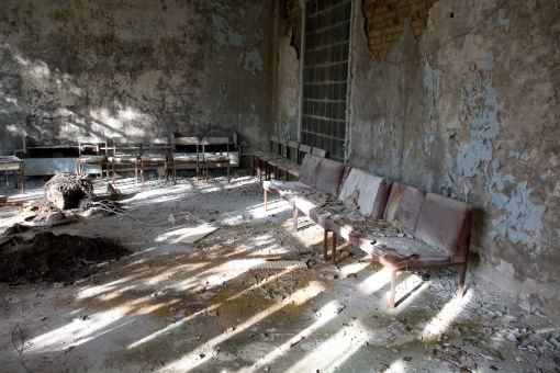 Hospital waiting room, Pripyat