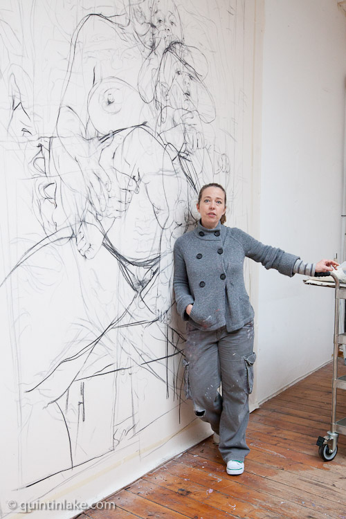 Well, why don't you visit the studio of Jenny Saville ...
