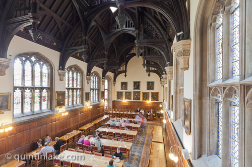 Diners return to the renovated Pembroke College Hall