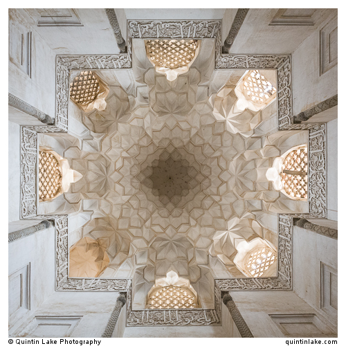 Interior of  Octagonal Pavilion Tomb of the Sheikh Abdolsamad, Natanz, Iran.
