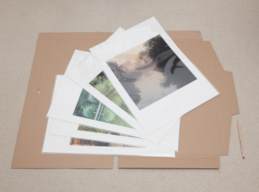 Protected in an archival polyester print storage sleeves which allows for easy handling.  A generous border allows trimming to size by the framer to allow for different mounting methods.