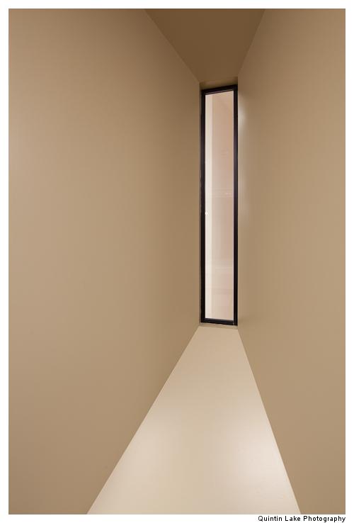 Interior view of meeting room windows