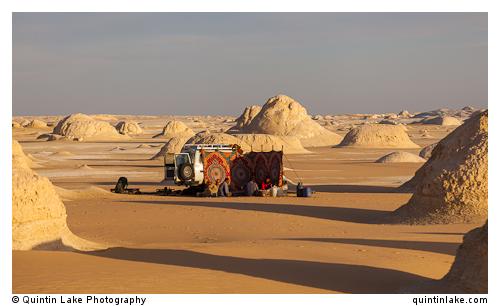 """4X4 Camp amongst El-Khiyam """"The Tents"""",  Sahara Beida (White Des"""