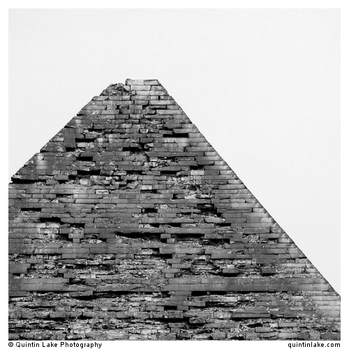 Apex of the Pyramid of Khafre, Giza Necropolis, Cairo, Egypt