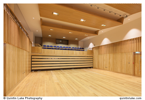 Pichette Auditorium with seats retracted