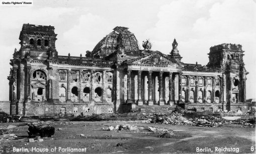 Reichstag after WW2 in 1945