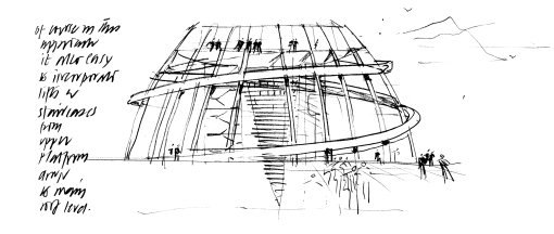 Norman Fosters concept sketch for the dome design