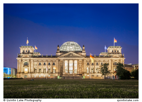 Reichstag Dusk West Facade July 2013