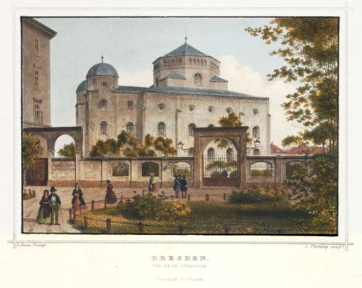 The Semper Synagogue c. 1860