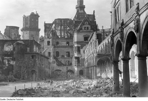 Stallhof destroyed after 1945 bombing