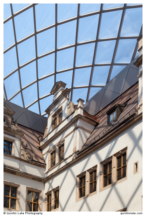 Inner Courtyard of Dresden Castle, ETFE Roof