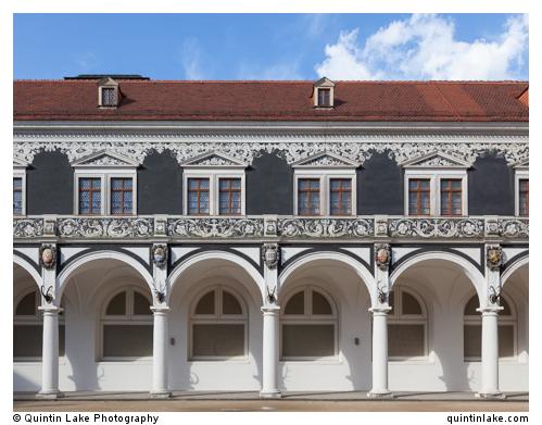 Long corridor, Stables Courtyard)