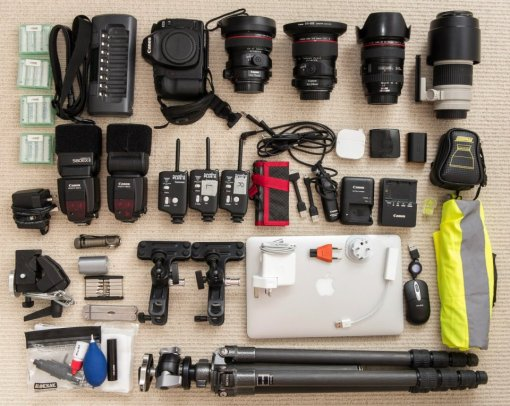 Photo gear for a 10 day architectural photography assignment in Denmark