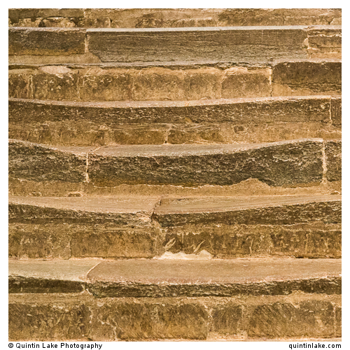 Steps worn by the passing centuries of pilgrims feet…and knees