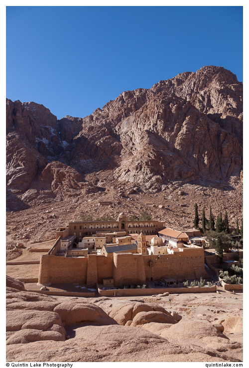 Saint Catherine's Monastery below Mount Sinai