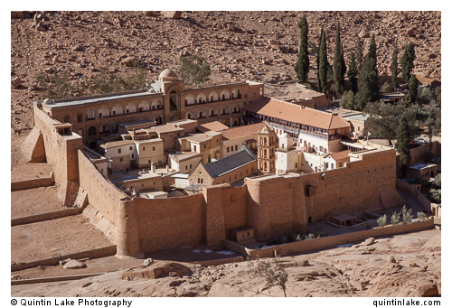 The monastery contains the Katholikon, various chapels, a amosque , library and cells for the monks.