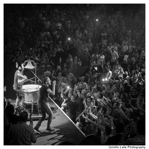 Mila Furstova and Coldplay, Royal Albert Hall, London, 2nd July