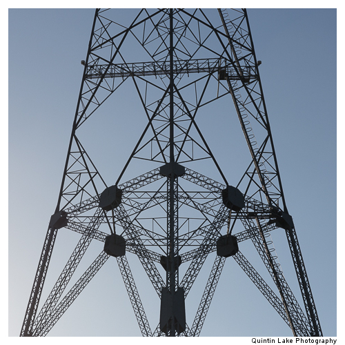 Aust Severn Powerline Crossing. West Pylon