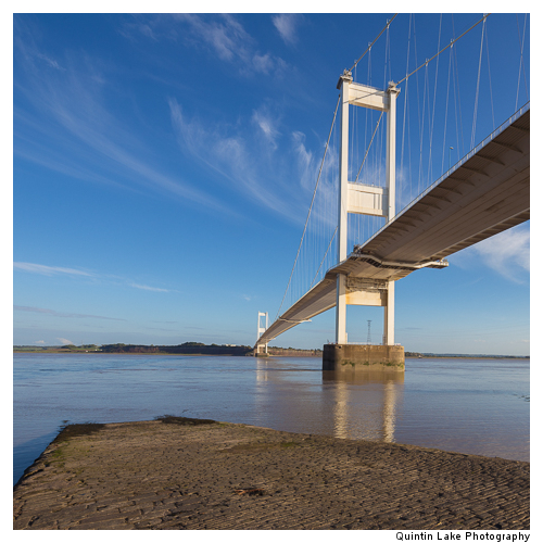 Severn Suspension Bridge  connecting England and Wales. Built 19