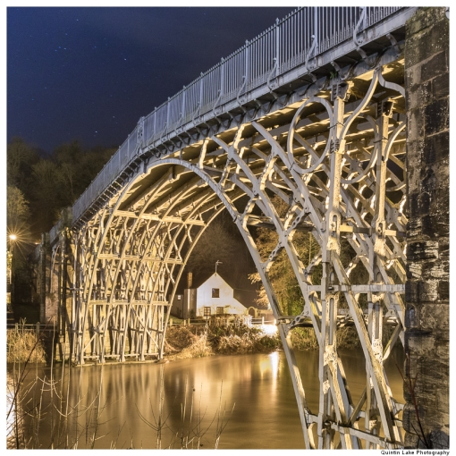 The Iron Bridge, Spanning the river Severn at Ironbridge Gorge