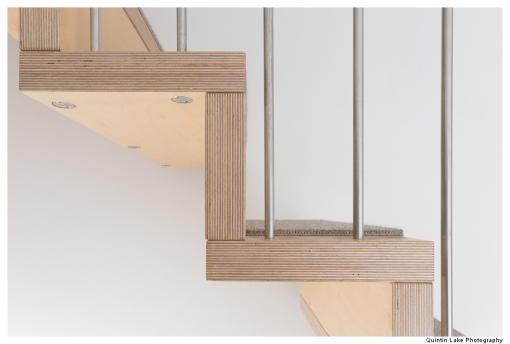 Hanging Stairs. 65 Hillgate Place, London.  James Wyman Architects