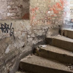 Grain Tower Battery IV. Internal staircase.