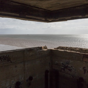 Grain Tower Battery X. Upper lookout, looking seaward.