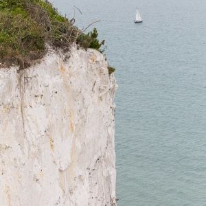 Chalk and flint cliff above St Margaret's bay.
