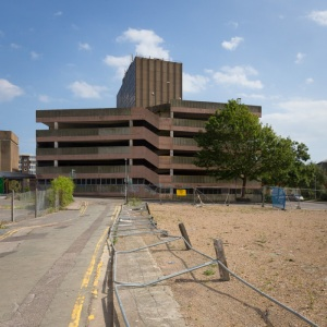 Multi-storey car park Dover. 10,056 buildings were bombed and shelled in Dover during WW2.