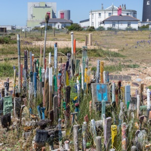 Paint stirrers and Dungeness Nuclear Power Station.