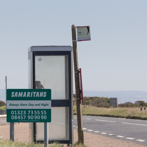 Samaritans Helpline at Beachy head, the UK's most popular suicide spot, Sussex.