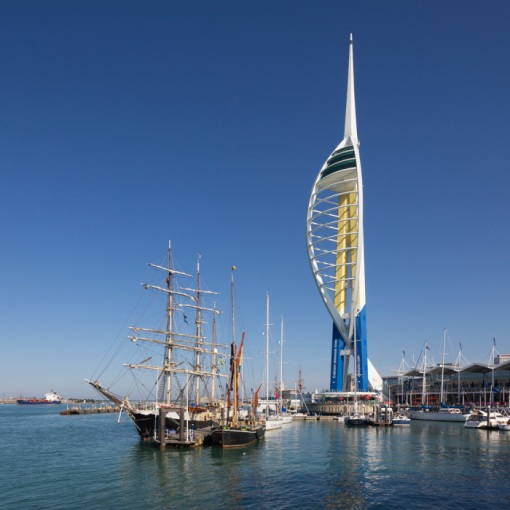 Emirates Spinnaker Tower & Gunwharf Quays, Portsmouth, Hampshire.