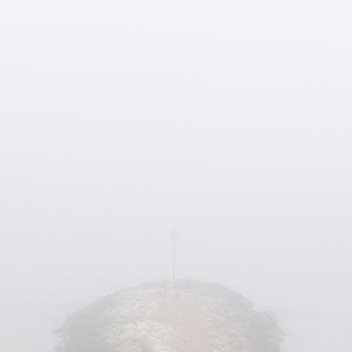 Fog near Chewton Bunny, Dorset.