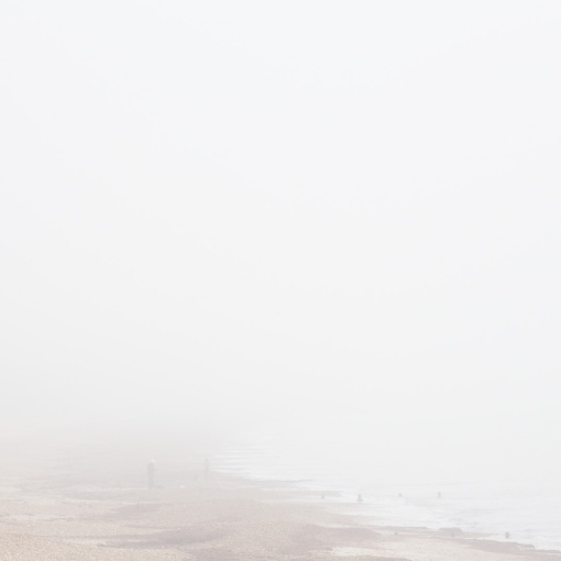 Foggy beach at Steamer Point Nature Reserve.