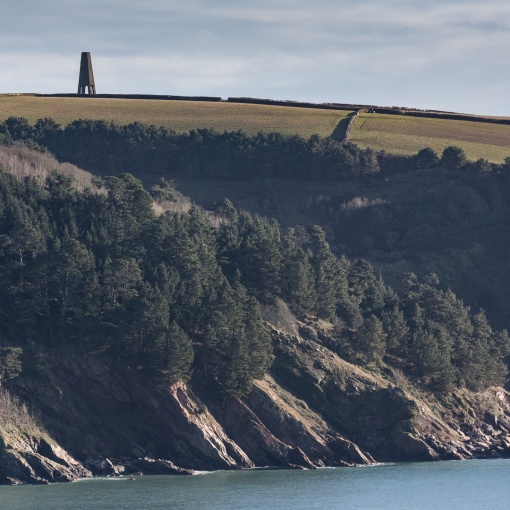 The Daymark, Kingswear. Built in 1864 as a guide for mariners to the position of the harbour entrance, Devon.