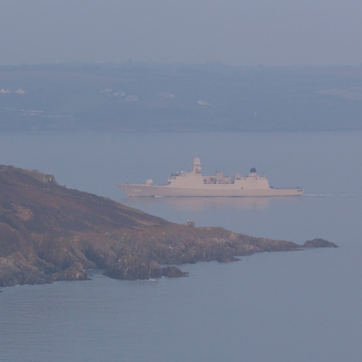 Dutch Frigate, De Ruyter passes Penlee Point, Cornwall.