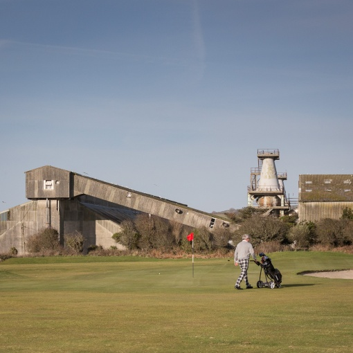 Carlyon Bay Golf Club & China Clay Dries, St Austell, Cornwall.