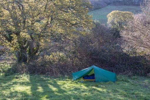 Camp, St Just Creek, Cornwall.
