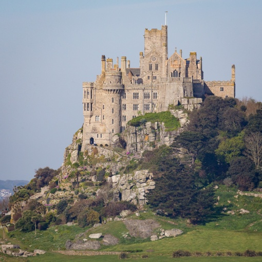Castle and chapel of St Michael's Mount, Cornwall.