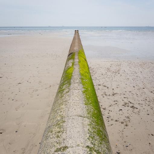 Outfall, Penzance Promenade Beach, Cornwall.