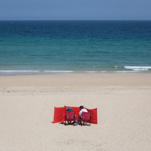 Red & Blue, Porthminster Beach, Cornwall.