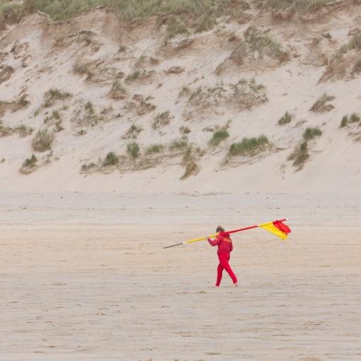 Lifeguard, St Ives Bay, Cornwall.