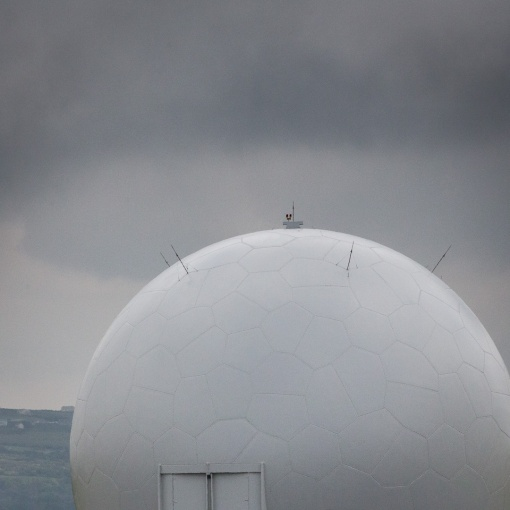 Remote Radar Head Portreath, part of the UK Air Surveillance and Control System, Cornwall.