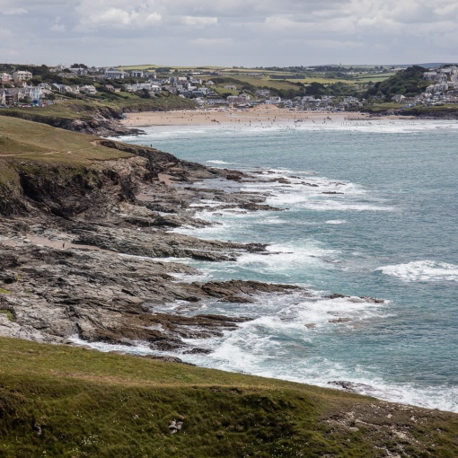 Polzeath from Pentire Point, Cornwall.