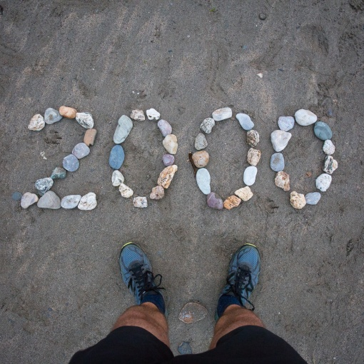 2000 Km walked since London, Port Gaverne, Cornwall.