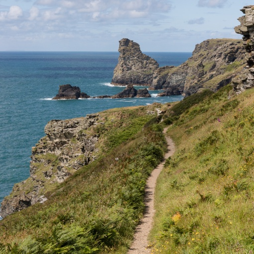 Coast Path to Saddle Rocks, Cornwall.