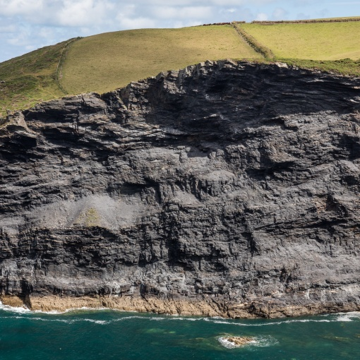 The Northern Cliff Face at Pentargon, Cornwall.