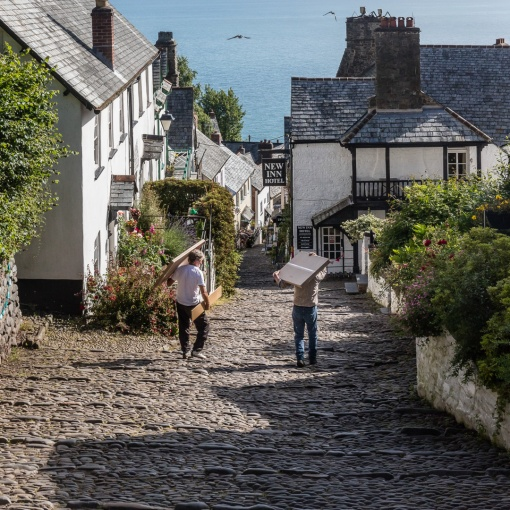 Main street, Clovelly, Devon.