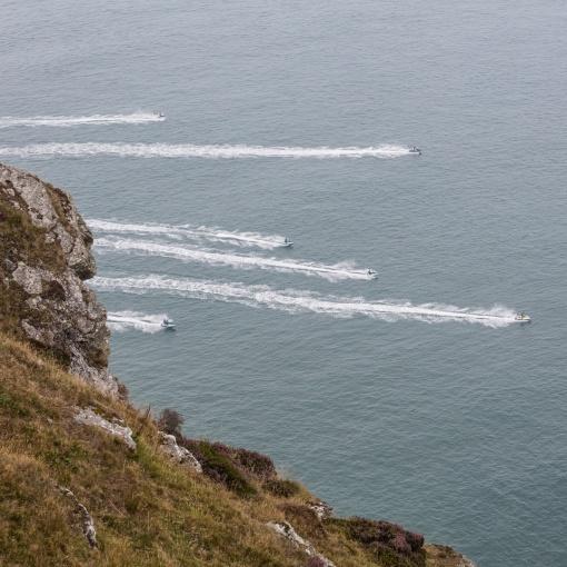 Jet Skiers from Highveer Point, Exmoor, Devon.