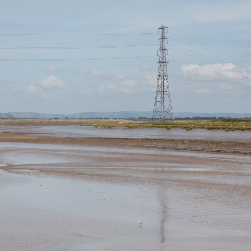 River Parrett near Steart Marshes, Somerset.